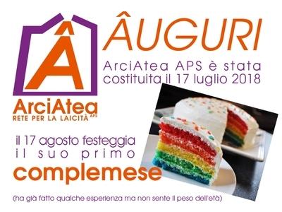 ArciAtea festeggia il suo primo complemese